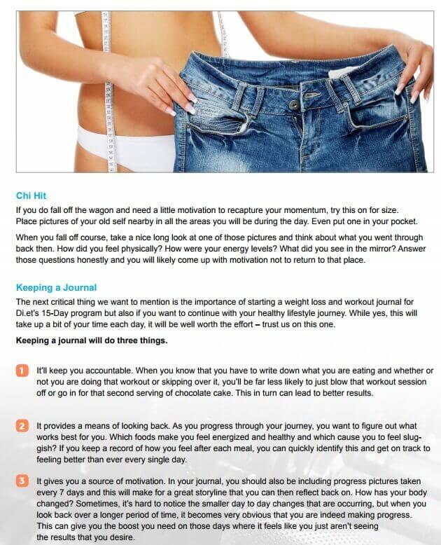 15 days diet plan maintenance guide sample