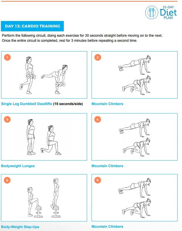 15-day diet workout guide