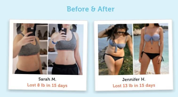 15 days diet plan before and after