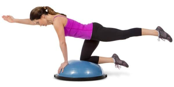Lose belly fat with bosu ball