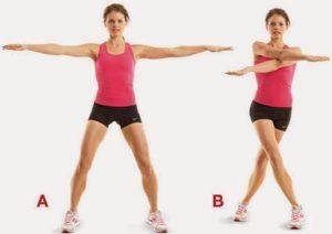 Arms scissors exercise