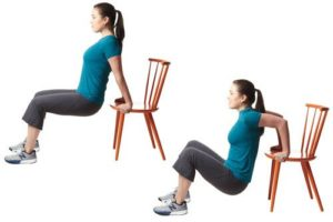 Dips on the chair