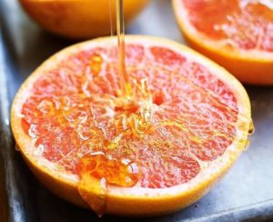 Grapefruit and honey
